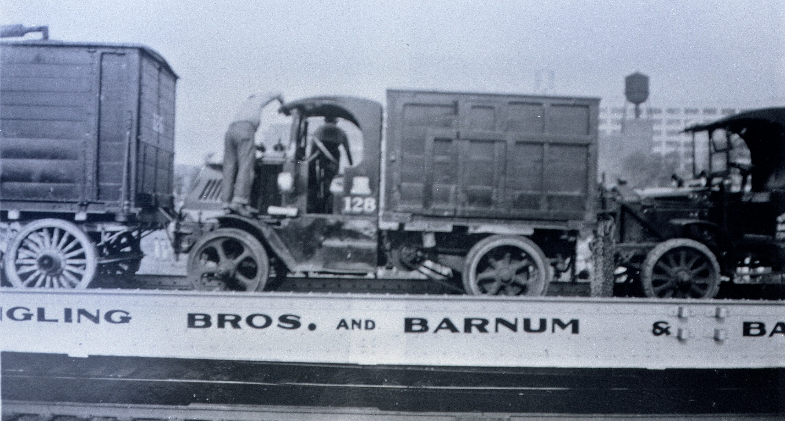 Ringling Bros Barnum   Bailey  1932  Trucks on flat cars Posted 1of 13