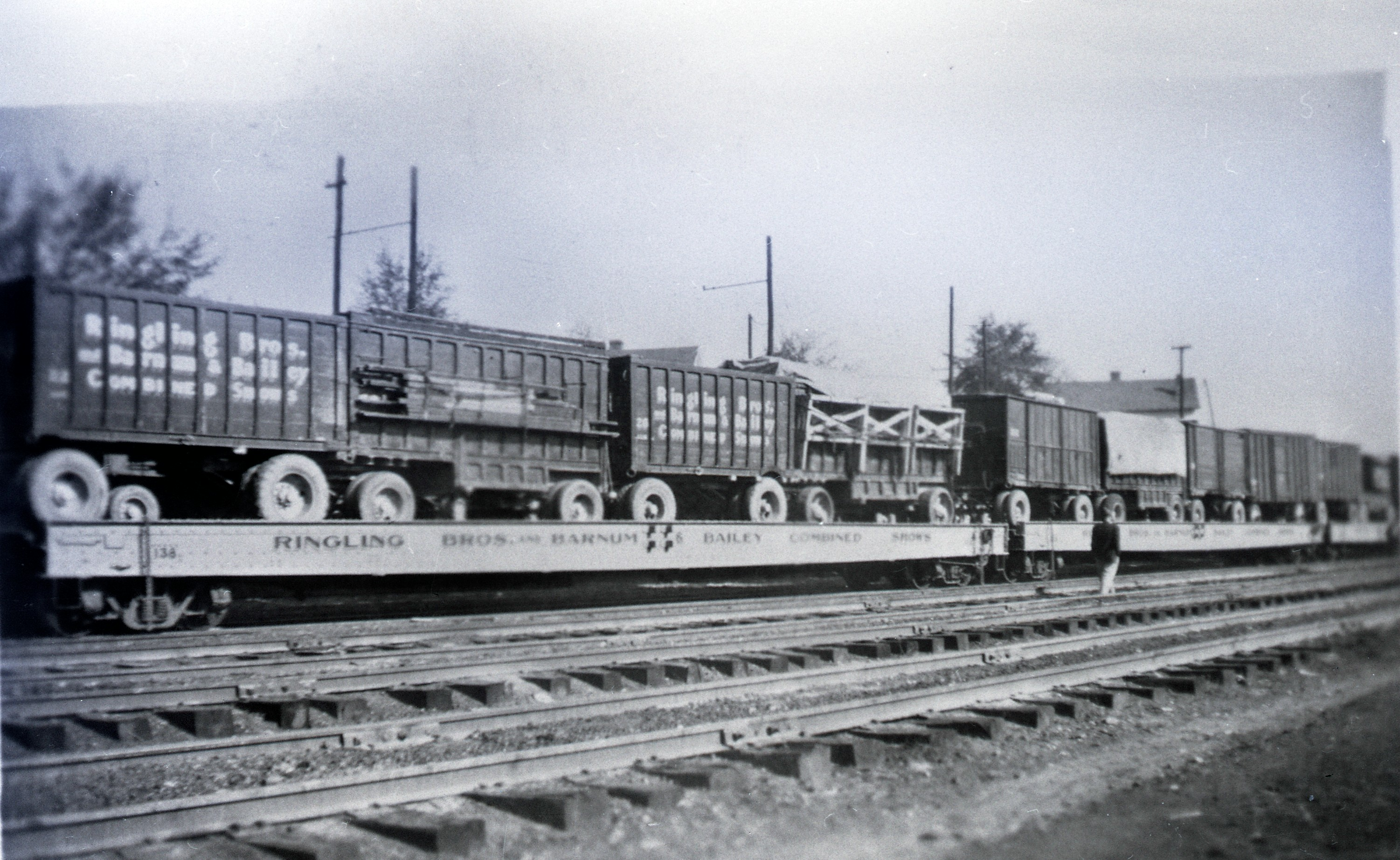 Ringling Bros  Barnum Bailey Loaded Flat Cars Posted 1 of 13
