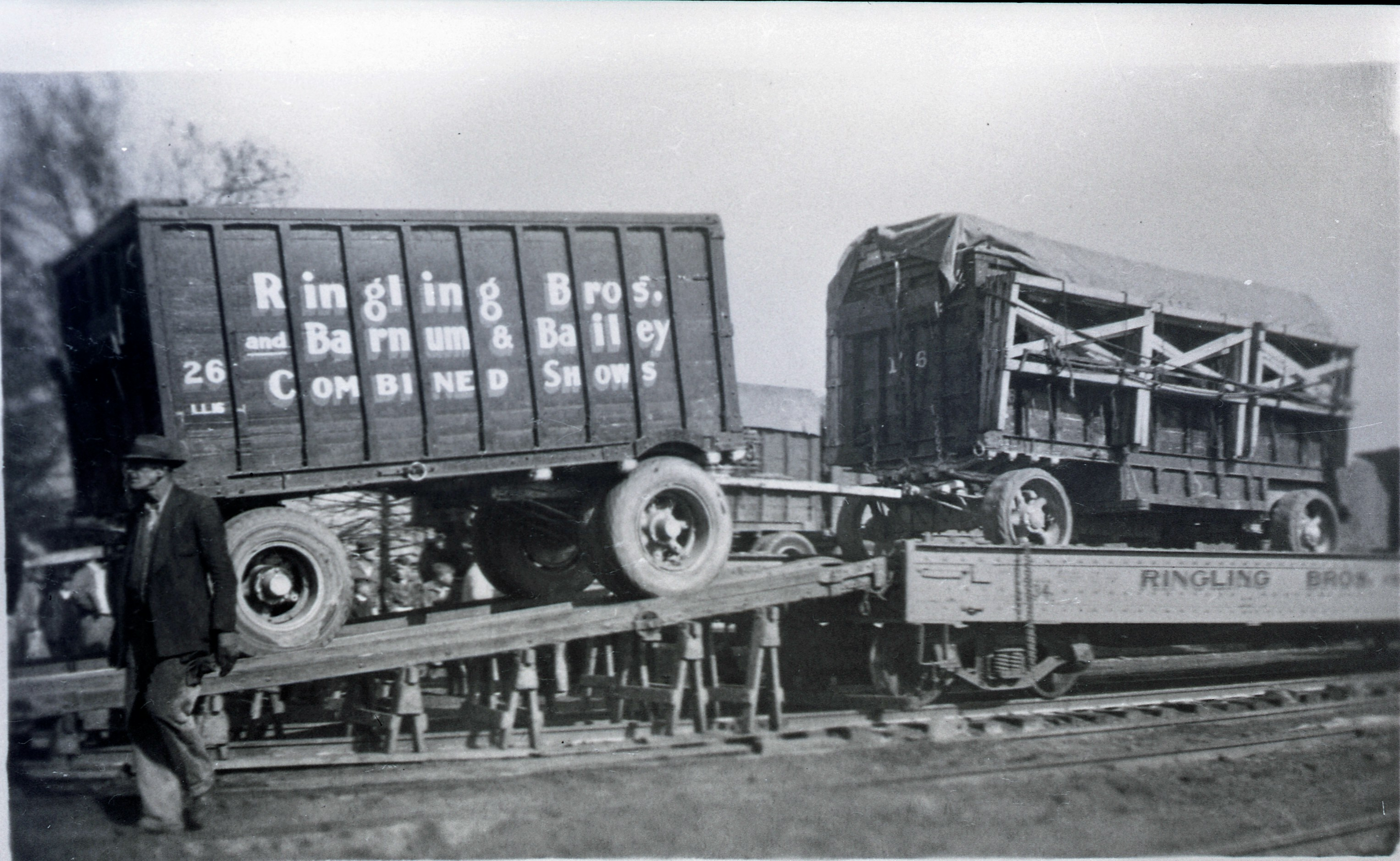 Ringling Bros  Barnum and Bailey1936 Same  day train scene Posted 1 of 13