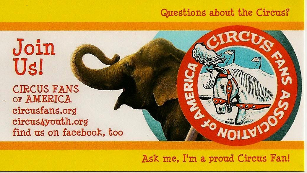CIRCUS FANS CARD INFO